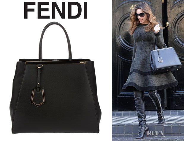dd9b4887c88 Kelly Brook s Fendi  2Jours Elite  Leather Shopper