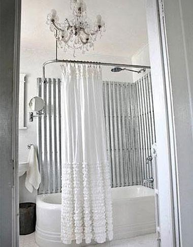 Corrugated shower Home Fashion Pinterest Corrugated metal