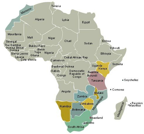 Africa Map - All African Countries | South African Vacation & Safari ...