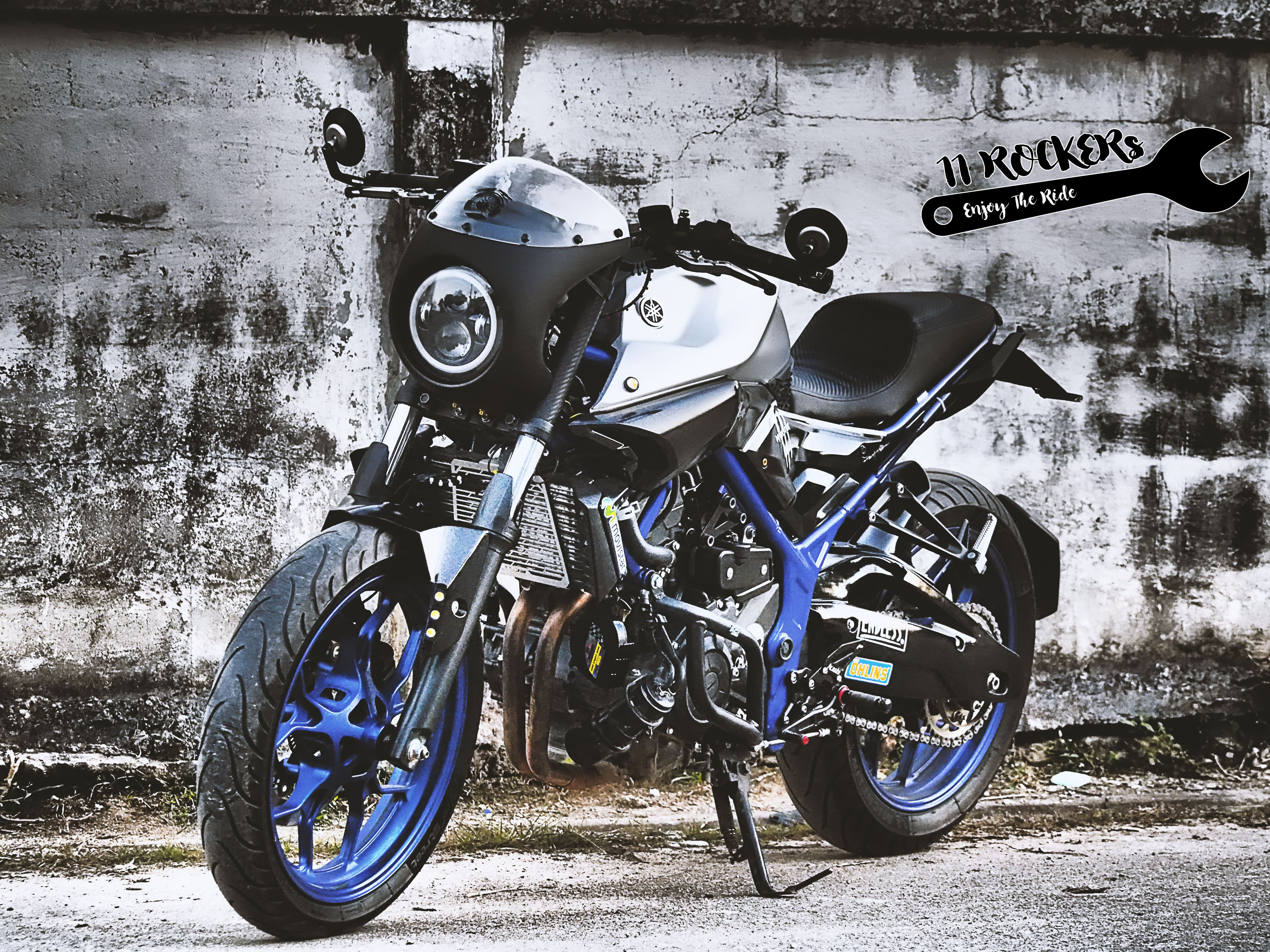 Moto yamaha scrambler cars motorcycles bobber forward mt09 yamaha - Yamaha Mt 03 Custom By 11rockers Garage Club