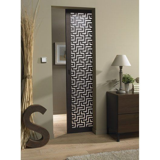 porte coulissante fr ne plaqu marron harry artens 204 x 83 cm id e porte au fond de la. Black Bedroom Furniture Sets. Home Design Ideas
