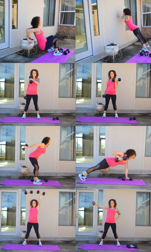 Quick pregnancy workout to tone the arms and help not gain a ton of weight in the arms. Can be done in any trimester of pregnancy.