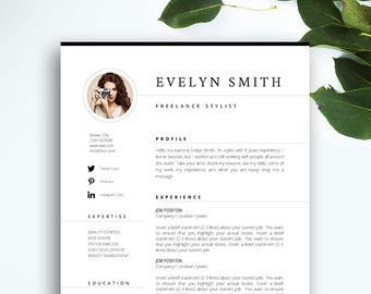 Resume Template  Page  Cv Template  Cover Letter  Instant
