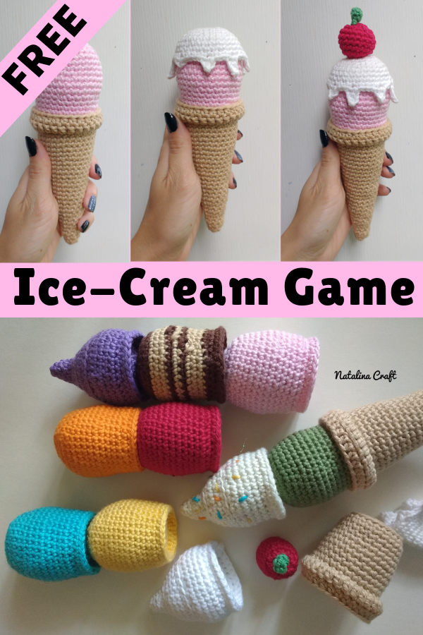 Ice Cream Cone – Free Pattern | 900x600