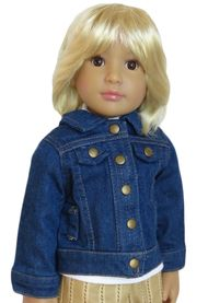 Denim jacket for 18 inch slim dolls