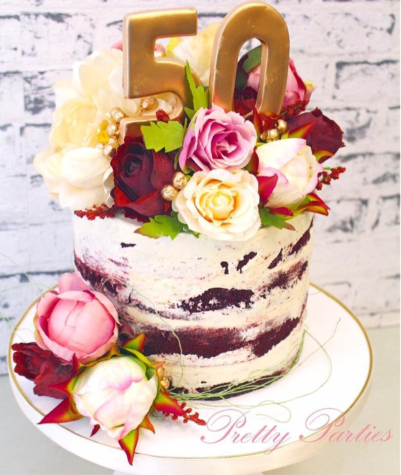 Pretty Parties Custom Cakes N06 Naked Cake wwwprettypartiesnet