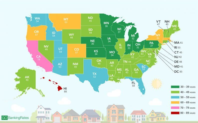 Here S How Many Hours You Have To Work To Afford A Home In Each