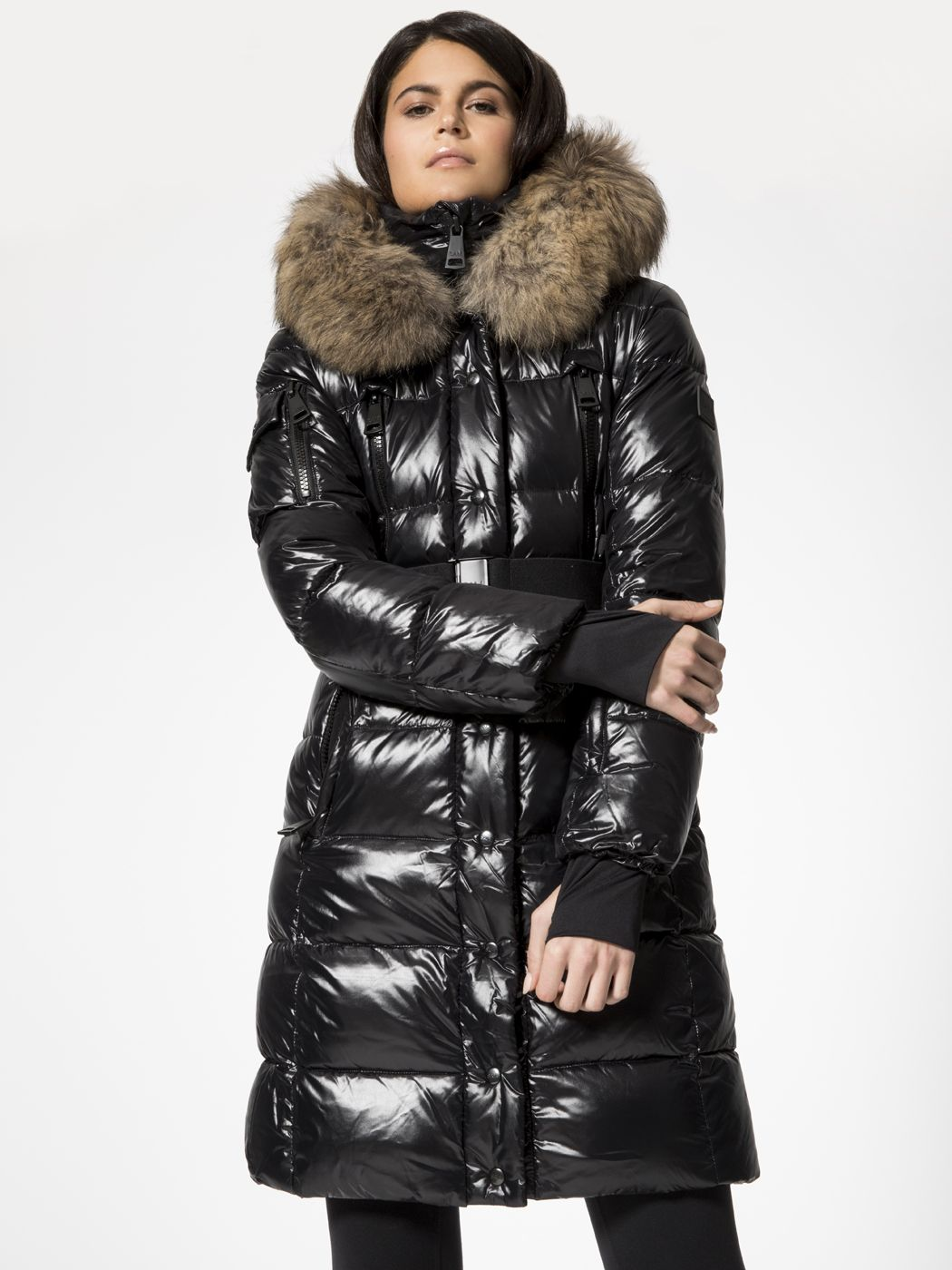 Infinity Jacket In Jet By Sam From Carbon38 Shiny Jacket Winter Jackets Puffer Jacket Women [ 1400 x 1050 Pixel ]
