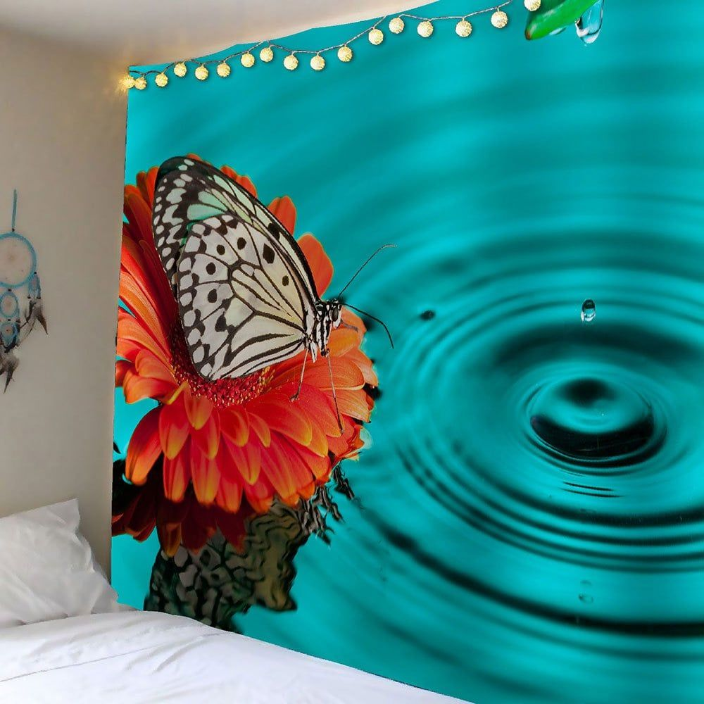 butterfly water print waterproof wall tapestry with on walls coveralls website id=65804
