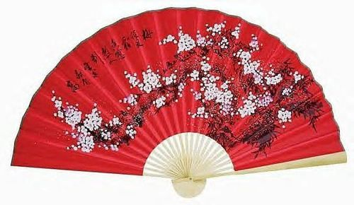 1 Oriental 60 Feng Shui Asian Floral 1 Chinese Wall Decor Fan Red Chinese New Year Decorations Wall Fans Japanese Wall Decor