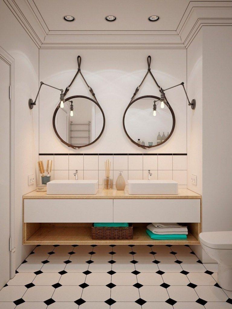 20 Diy Bathroom Remodel On A Budget Decorholic Co In 2020 Round Mirror Bathroom Bathroom Vanity Decor Bathroom Ideas Uk