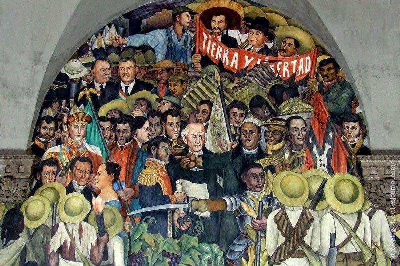 Diego Rivera 1886 1957 Tierra Y Libertad Mural History Of