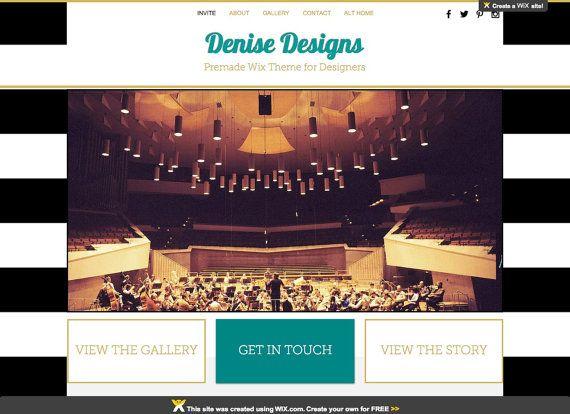 HTML5 #WebsiteDesign | #WixWebsite | Interior Designer Website | Event Planner Site https://www.etsy.com/listing/251929907/wix-premade-template-denise-designs?utm_content=buffer93c67&utm_medium=social&utm_source=pinterest.com&utm_campaign=buffer Etsy