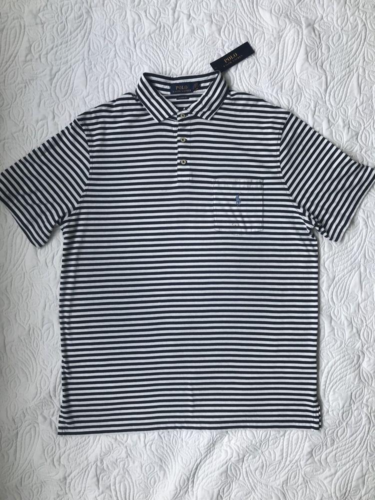 3e18e9f4 Mens Size Large Polo Ralph Lauren Polo Shirt Blue Striped Short Sleeve #polo  #stripes #bluewhite