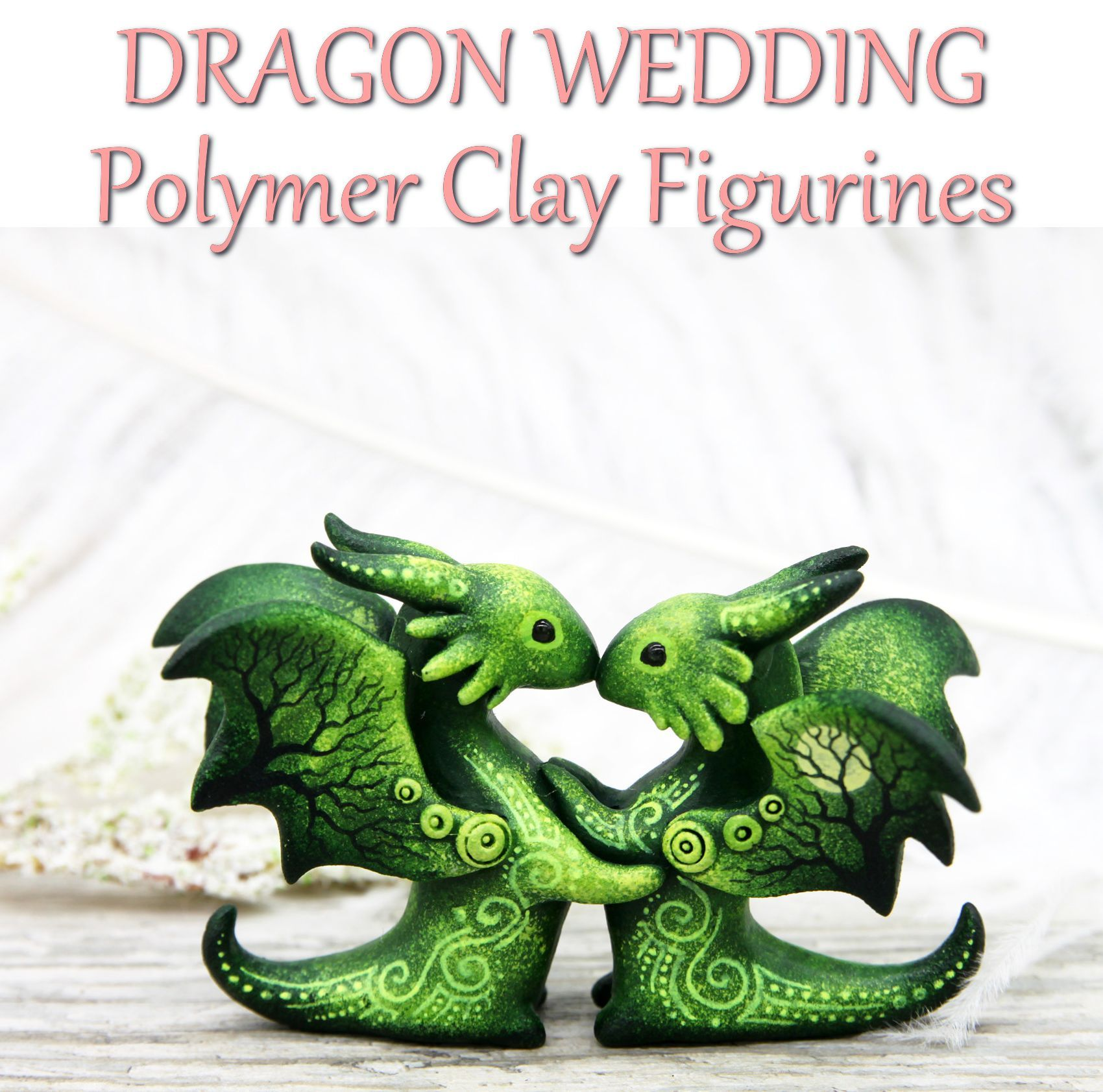 Wedding Cake Topper Couple Dragons Love Figurine By Evgeny Hontor Cake Topper Wedding Couple Dragon Wedding Clay Figurine