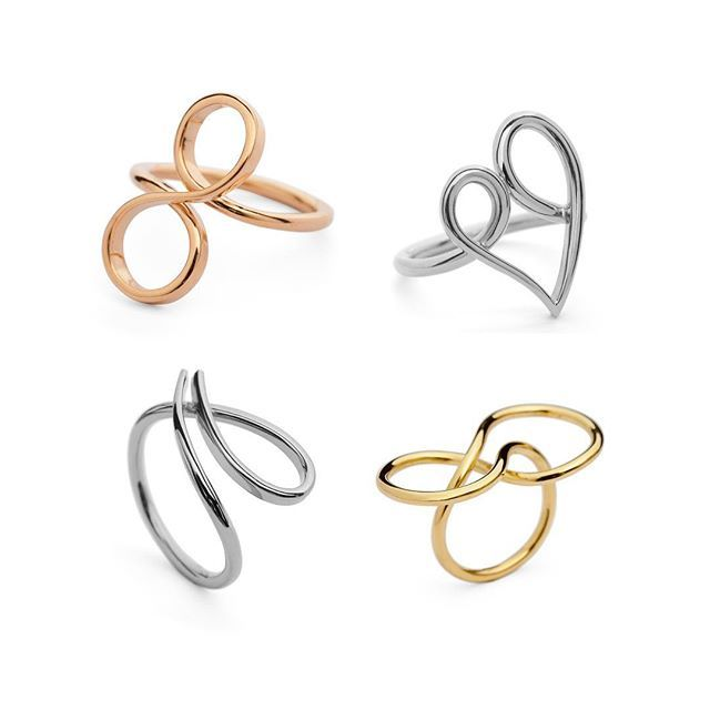 Wire formations, shaped from round wire these sculptural rings loop ...