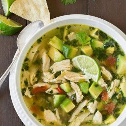 Chicken Avocado Lime Soup #chickentortillasoup