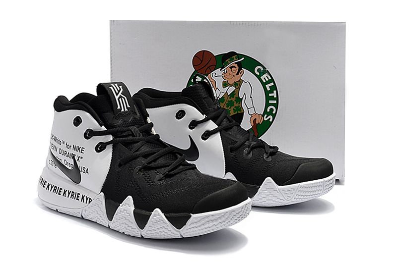 promo code f2eca d408e 2018 Off-White x Nike Kyrie 4 Black White For Sale  Air Jordans 2018