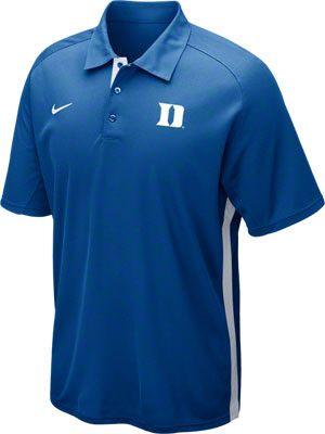 1ef33a10d Duke Blue Devils Nike Football Coaches Polo Shirt