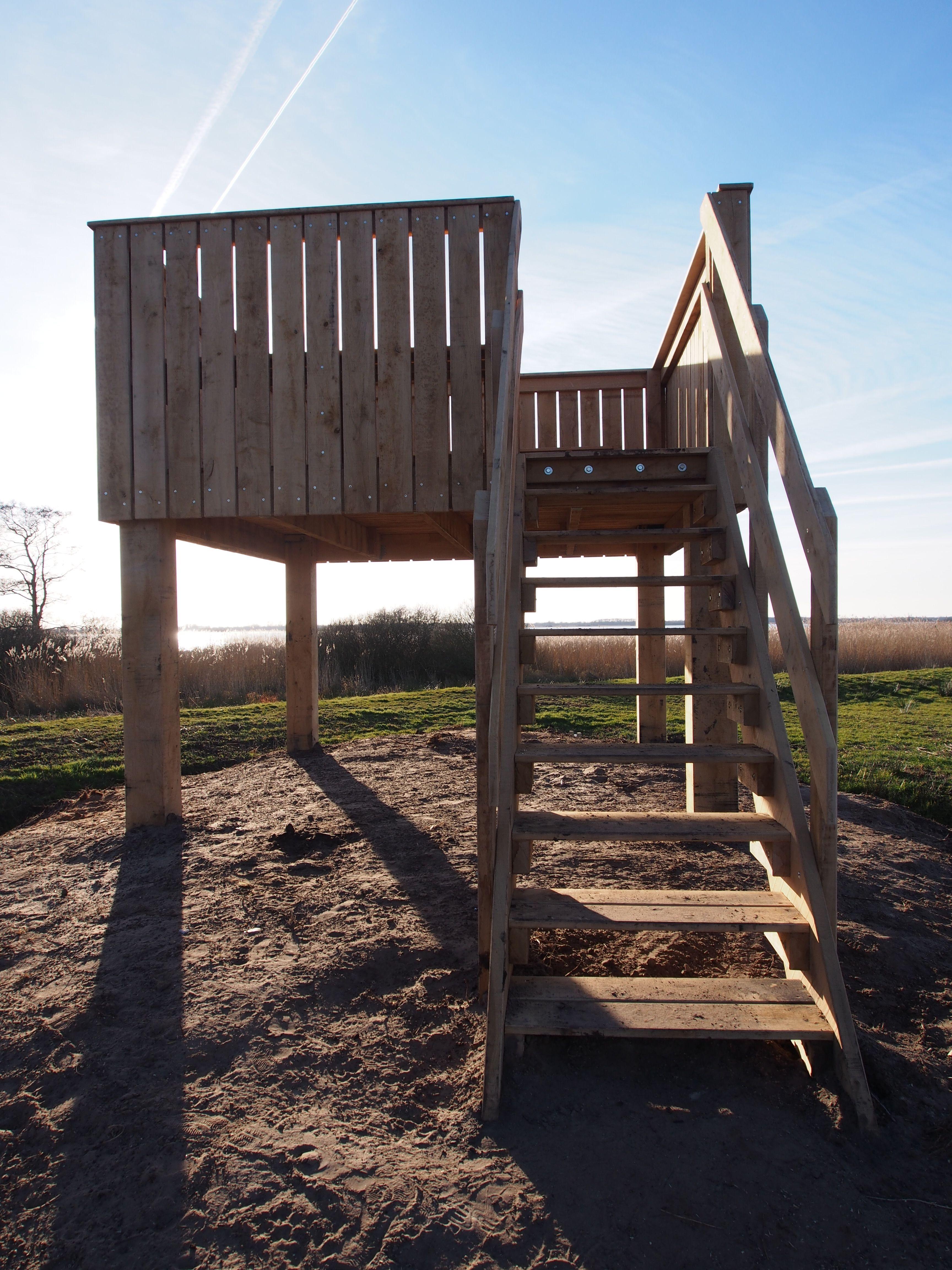 De nieuwe uitkijktoren bij de Leyen Rottevalle Friesland