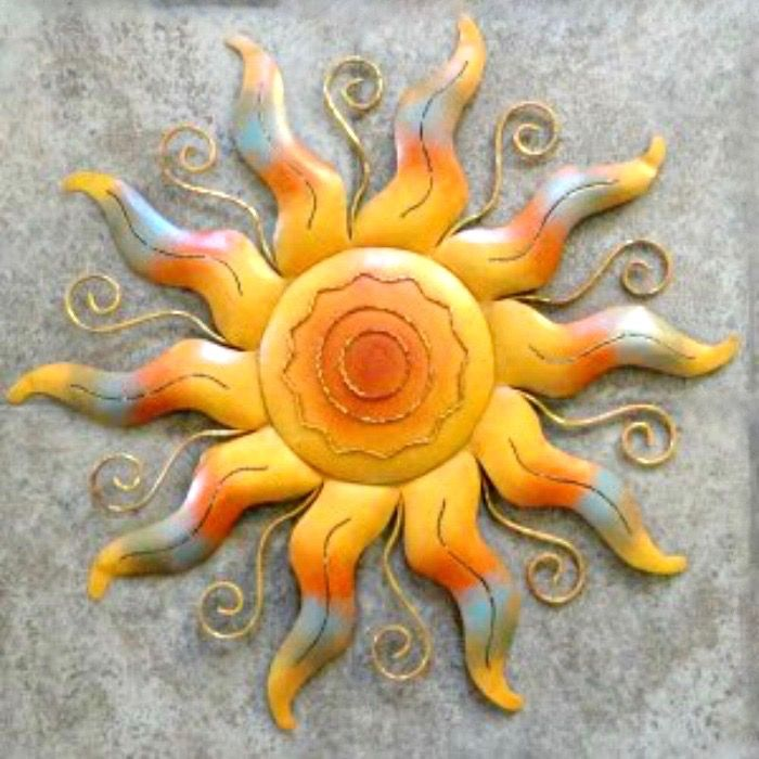A colorful sun in wall art. | Sun and Moon | Pinterest | Pagan art ...
