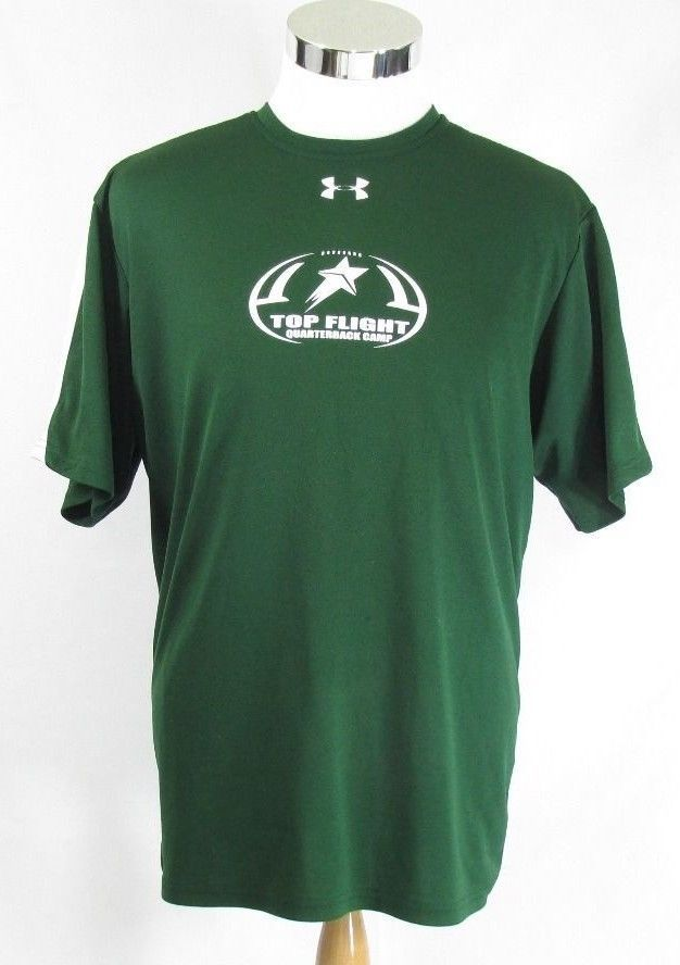 abdfd4b0 Under Armour T-Shirt Size L Green 100% Polyester Top Flight ...