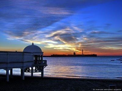 Amanecer en Cádiz.