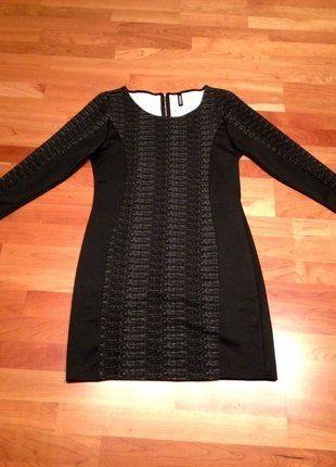 Kaufe meinen Artikel bei  Kleiderkreisel  http   www.kleiderkreisel.de damenmode kurze-kleider 141729358-schwarzes- enges-kleid-mit-grauen-einsatzen-gr-38 4af0b455be
