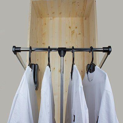 Perfect GlideRite Hardware Steel Pull Down Wardrobe Lift Closet Rod Length: (35.5  To 48