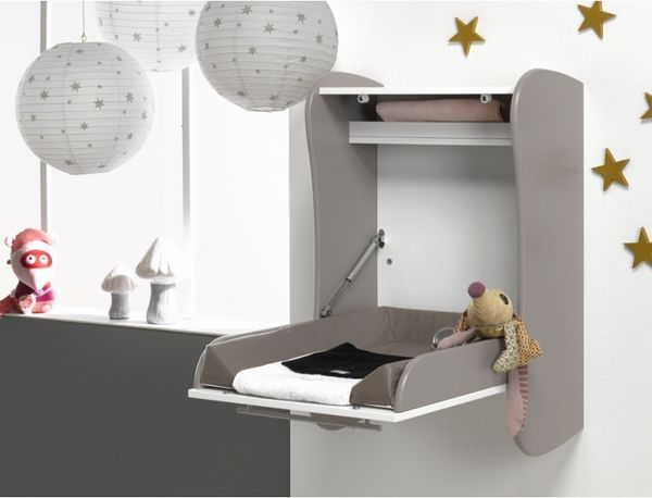 wall mounted baby changing station design ideas vertical mounting - moquette imputrescible pour salle de bain