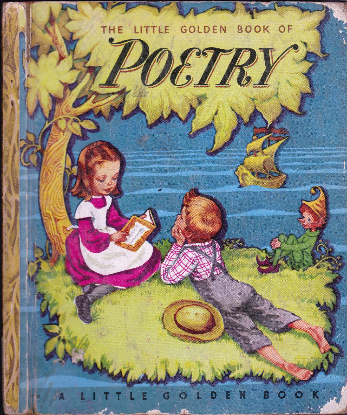 Libros Infantiles Antiguos Little Golden Book Of Poetry Corinne Malvern Antiguos Libros
