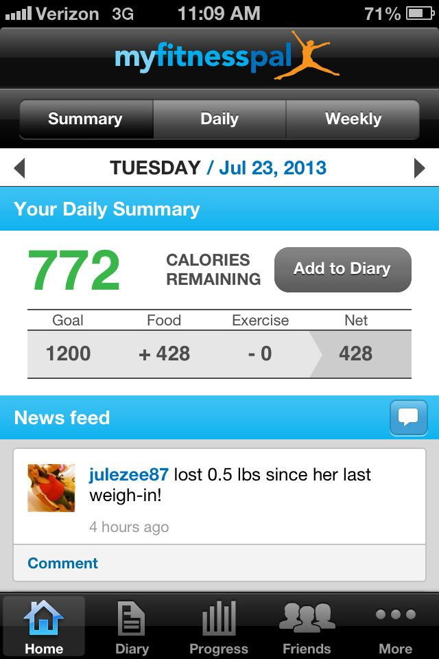 This is awesome for tracking calories and macros. Take a