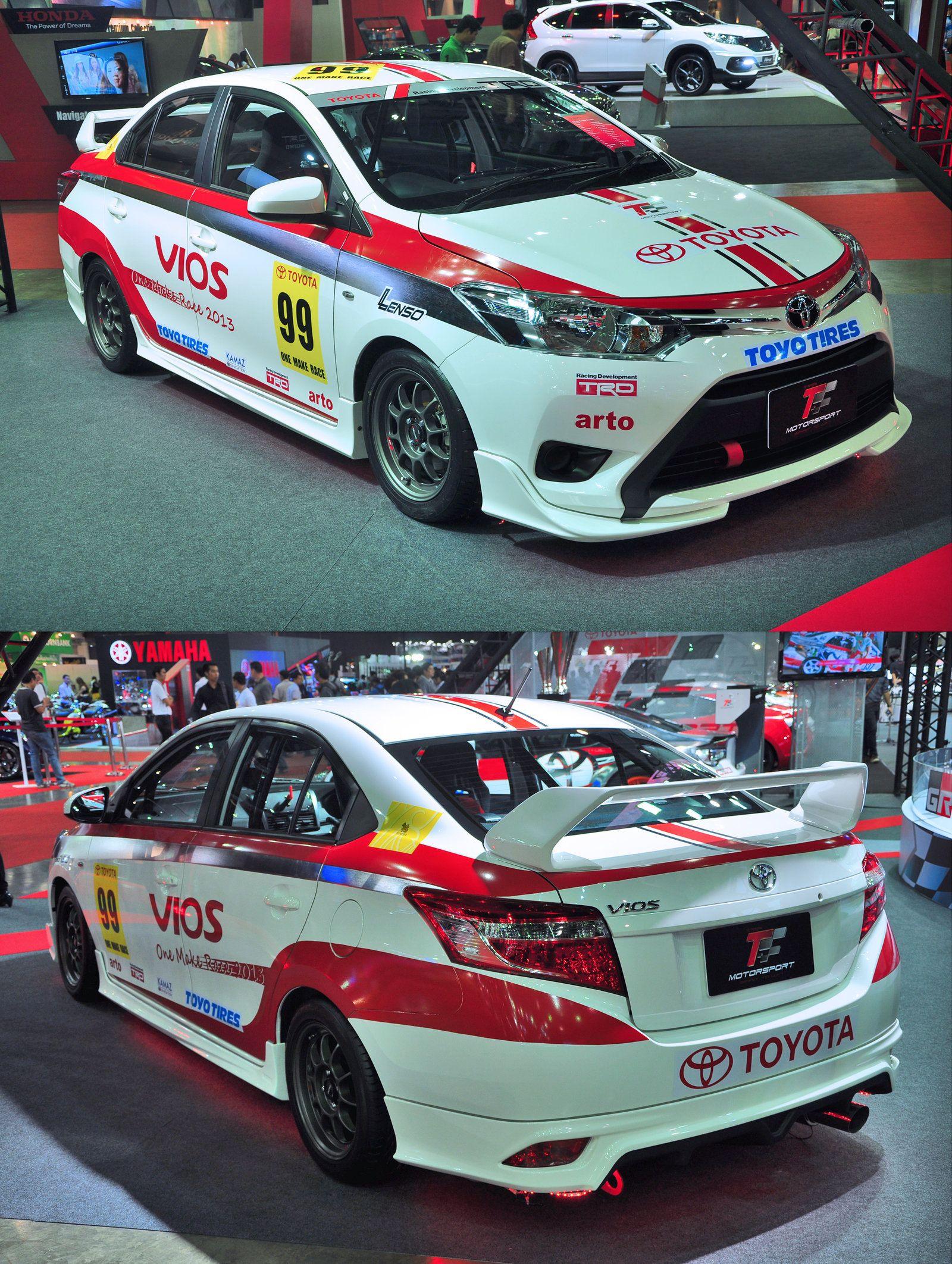 Toyota Vios One Make Race Car At Bangkok Auto Salon 2013