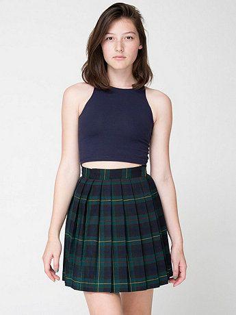 American Apparel - Plaid Pleated Schoolgirl Skirt | fashion ...