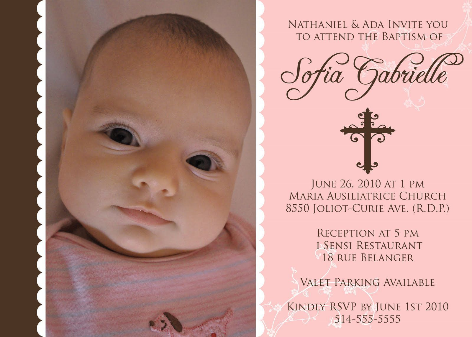 first birthday baptism invitations baptism invitations