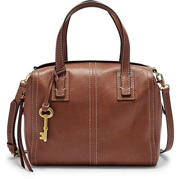 5ec9c6686d Fossil Emma Satchel Zb6843200 Color: Brown (235 CAD) ❤ liked on Polyvore  featuring bags, handbags, leather satchel handbags, brown handbags, ...