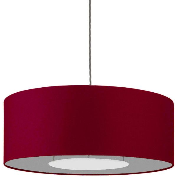 Heathfield Co 28 Thin Drum Ruby Silk Shade 735 Liked On Polyvore Featuring Home Lighting Drum Light Shade Drum Drum Lampshade Silk Shades Drum Light