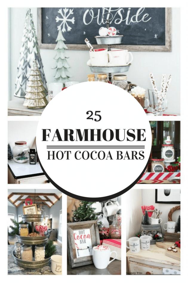 25 Farmhouse Style Hot Cocoa Bars to Inspire You | Cocoa bar ...
