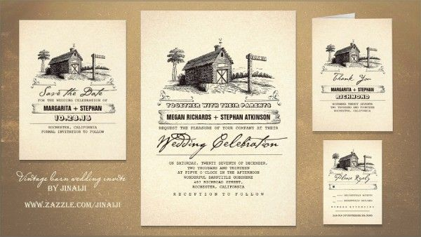 Rustic Wedding And Party Invitations