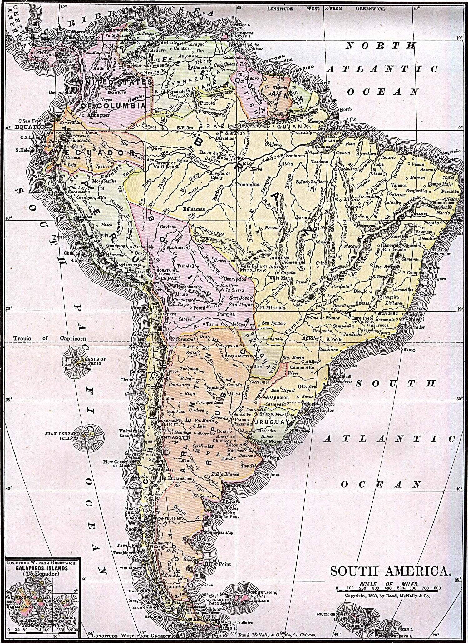 south america old map Americas Historical Maps PerryCastaeda