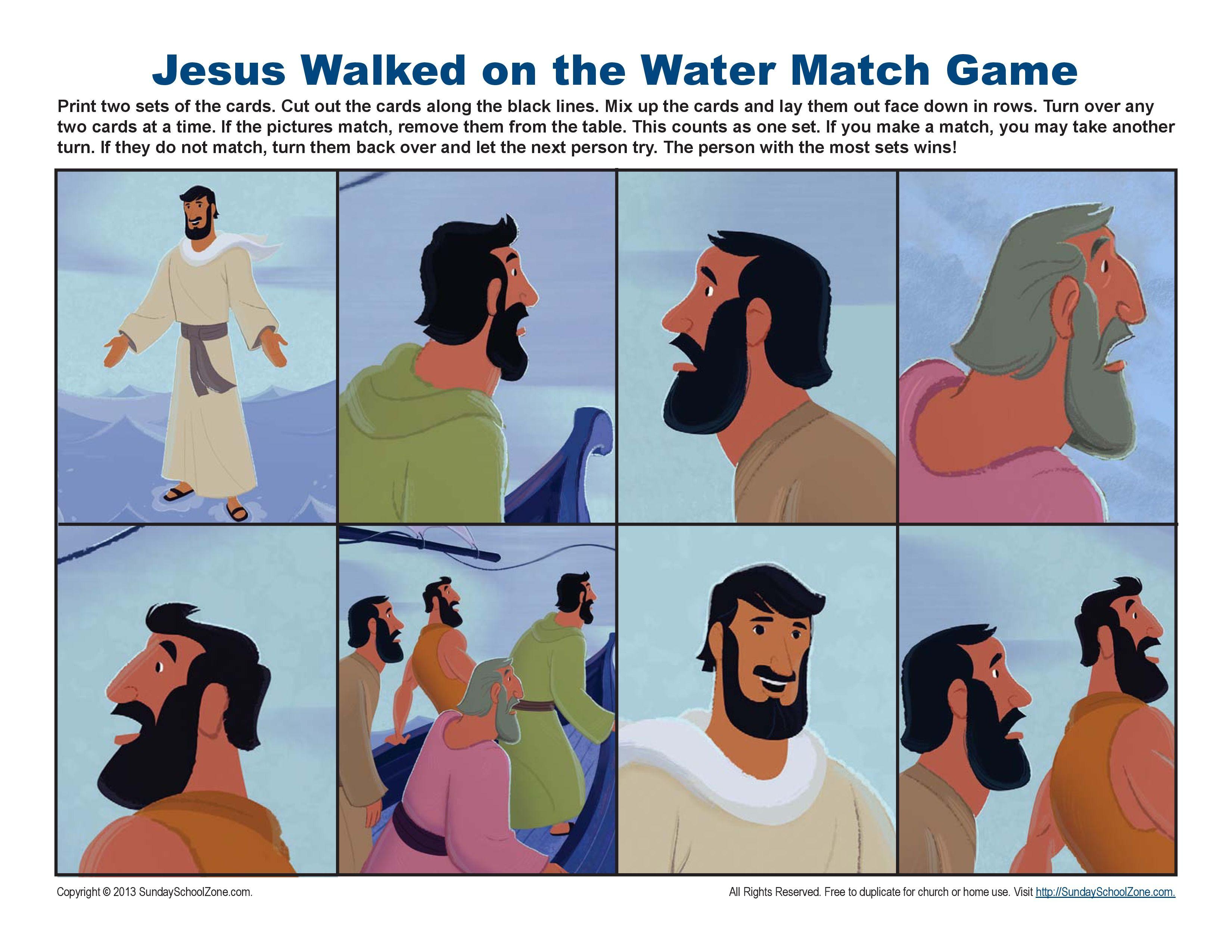 Jesus Walked on Water Match Game