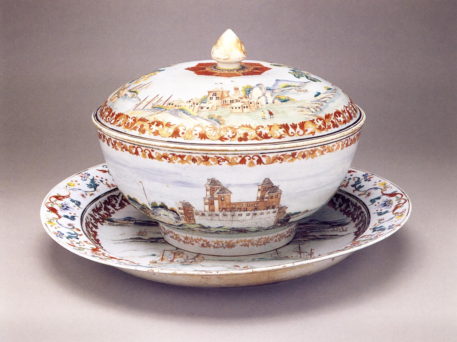 China Export Ware Punch Bowl For The Swedish Market Ca