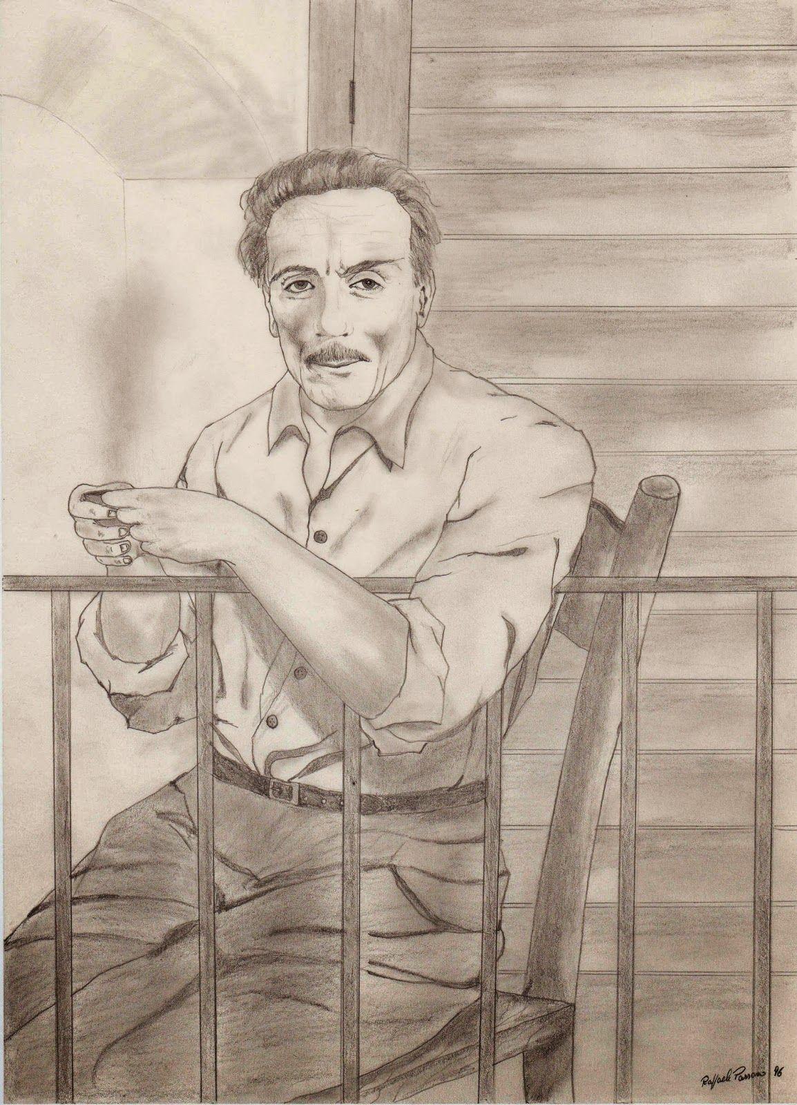 Eduardo De Filippo Caffe 1996 Disegno Caricaturale Disegni Arte