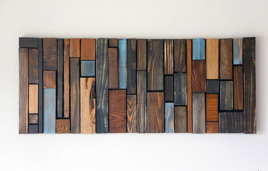 Wood wall art murales pinterest madera pared de madera y arte en madera - Murales de madera ...