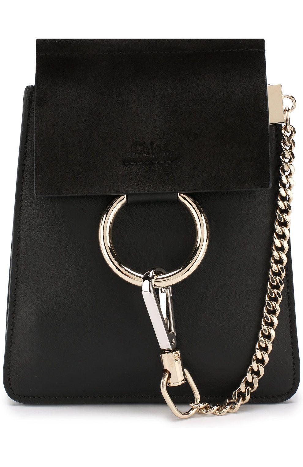 0947d4be4c06 Женская сумка faye small bracelet CHLOÉ черного цвета, сезон FW 18/19, арт