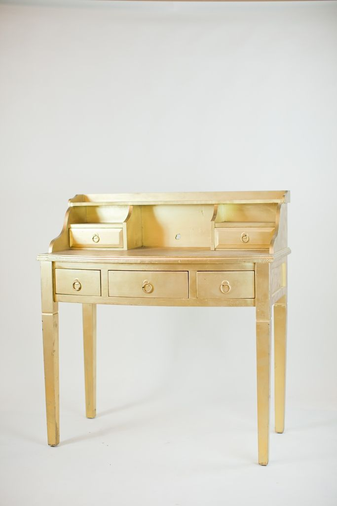 Gold Desk With Multiple Levels To Create A Unique Dessert Display Or Welcome