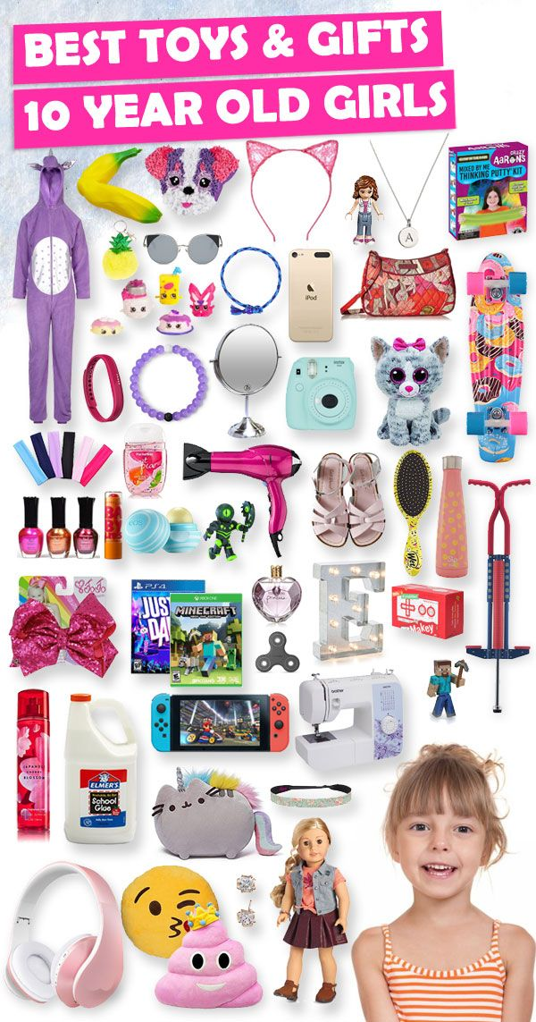 Tons of great gift ideas for 10 year old girls. - Best Gifts For 10 Year Old Girls 2018 Lindzee Christmas List