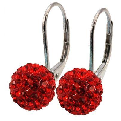 Tresor Paris Titanium/Red Crystal Drops