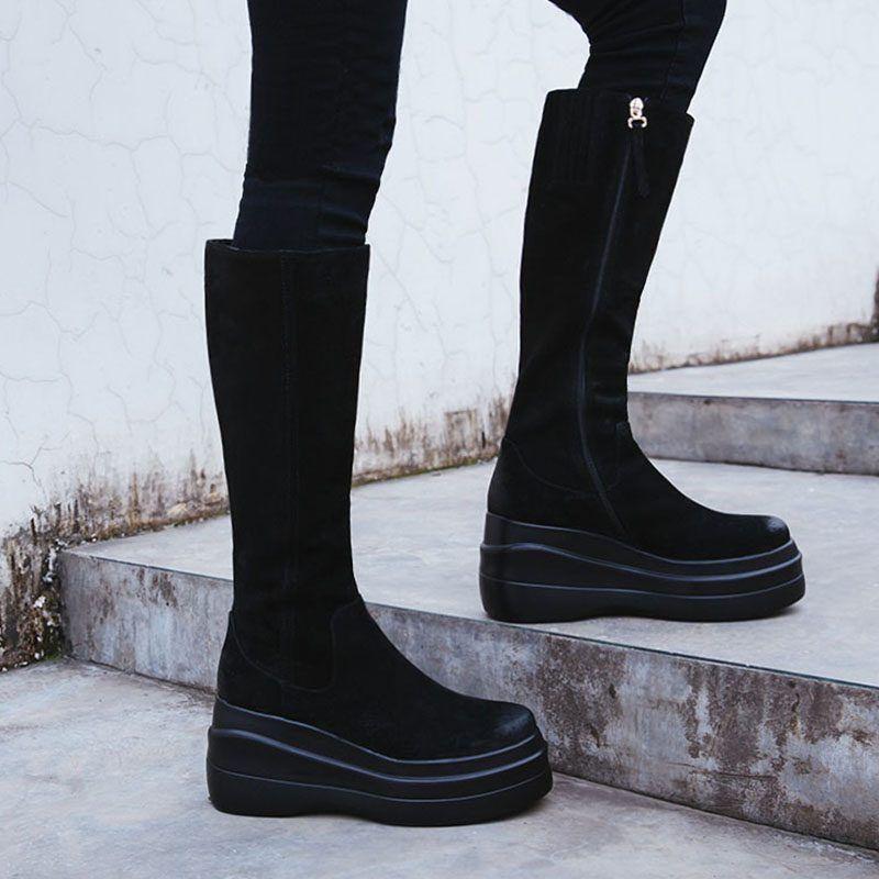 e72d38e1e97 Chiko Binney Flatform Knee High Boots Socks And Heels