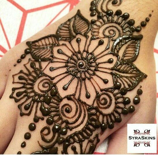 Floral Big Design Henna Designs Henna Hand Tattoo Henna